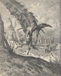 Don Quijote by Gustave Doré (PD)